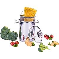 Culinario Cazo para spaghetti/olla para verduras de Acero Inoxidable, diámetro de 16x 21cm, con Uso cesta, inoxidable, cacerola, olla para espárragos (, salchichas, pasta ollas, by Karl Krüger