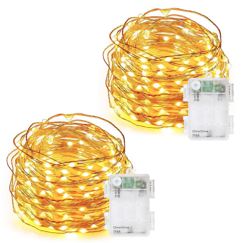 Amazoncom Decornova 60 Led Battery Powered Fairy String Lights With
