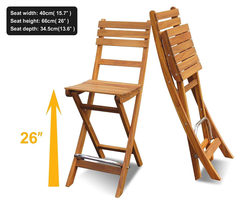 Amazon.com: Juego de mesa de balcón de Estocolmo y sillas de ...
