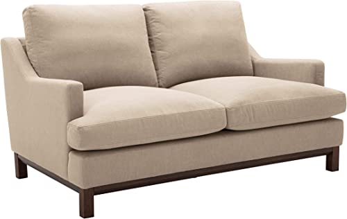 Amazon Brand Stone Beam Genesse Loveseat Sofa Couch, 64 W, Fawn