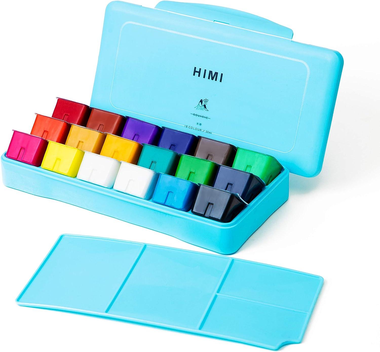 HIMI Gouache  set de 18 colores 30cm (caja azul)