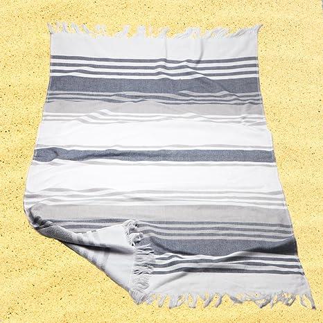 Burrito Blanco Pareo para playa/Toalla pareo 181 Algodón 90% Poliéster 10% con