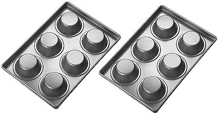KitchenAid KBNSS06MF Professional-Grade Nonstick 6-Cavity Regular Sized Muffin Pan Set of 2 Bakeware