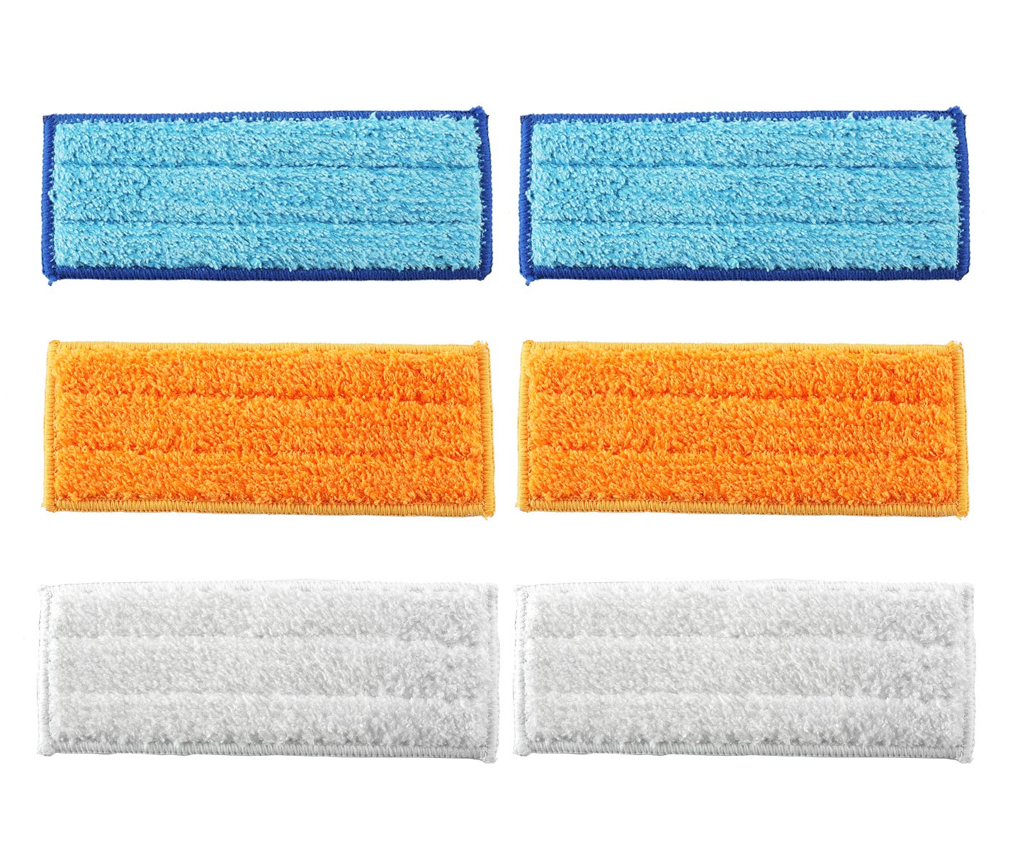 EZCARRIER Washable Mopping Pads Compatible for iRobot Braava Jet 240 241 (2 Wet Mopping Pads+2 Damp Sweeping Pads+2 Dry Sweeping Pads)