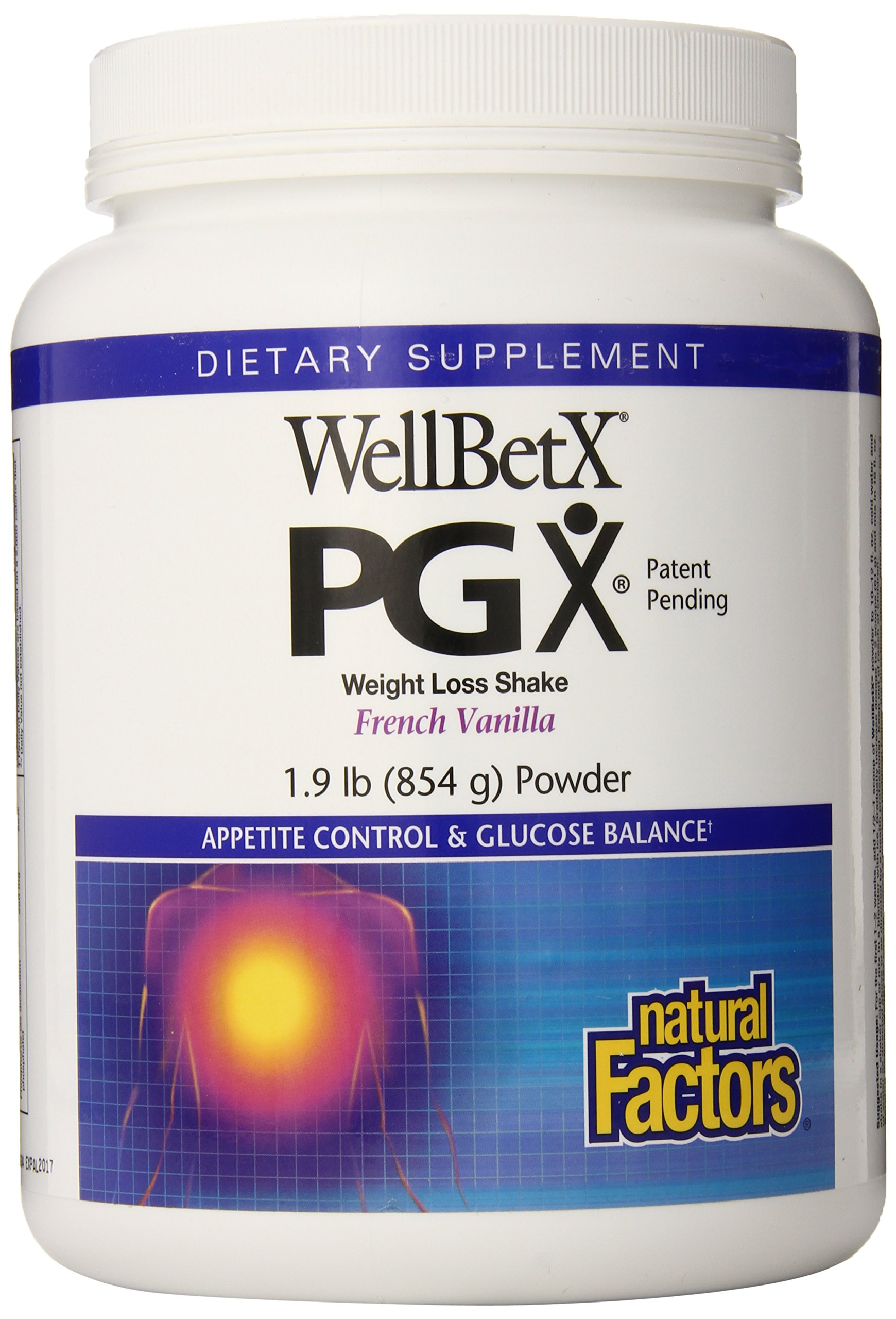 Natural Factors Wellbetx PXPGX Shake, French Vanilla, 1.9 Pounds (Pack of 6)