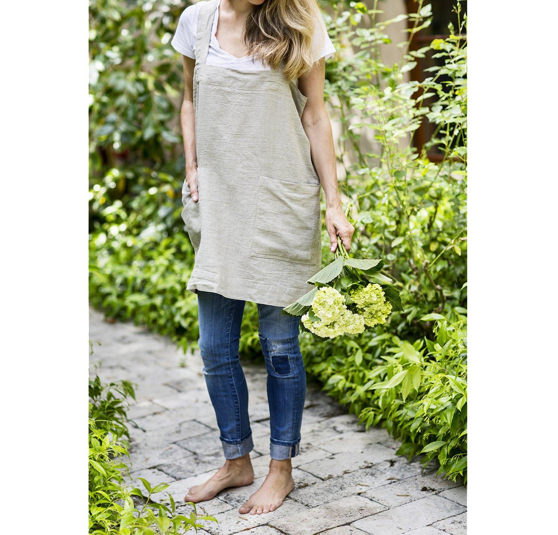Pinafore (Natural Linen, Adult Petite (5'' shorter)) by Rough Linen