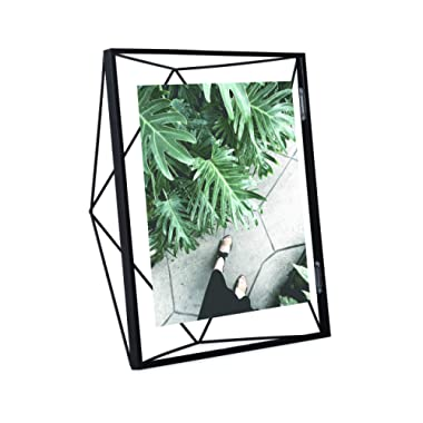 Umbra Prisma 8x10 Picture Frame – Geometric Wire Photo Frame for Desktop or Wall, Black