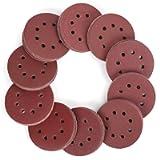 WORKPRO 150-piece Sandpaper Set – 5 Inch 8 Holes Sanding Discs 10 Different Grades Including 60, 80, 100, 120, 150, 180…