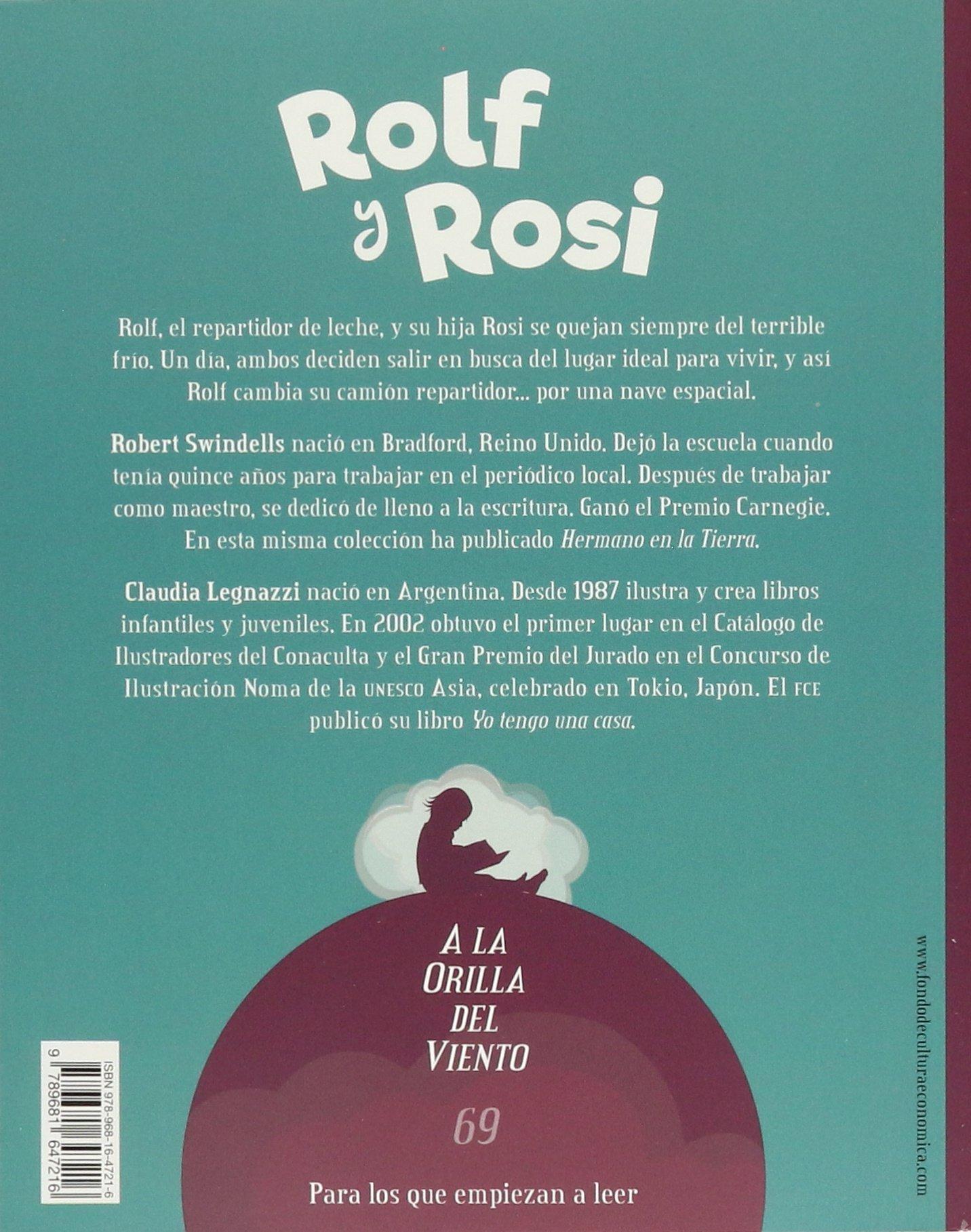 Rolf y Rosi (Spanish Edition): Swindells Robert, Claudia Legnazzi: 9789681647216: Amazon.com: Books