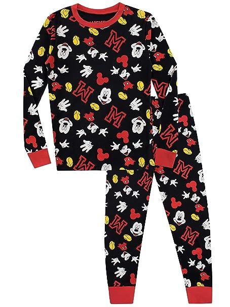 Disney Pijama para Niños Mickey Mouse Ajuste Ceñido: Amazon.es: Ropa y accesorios