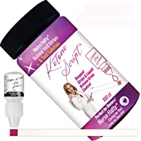 Nurse Hatty - 100ct. Fresh Keto Strips + Liquid Ketone Test Solution - Made-in-The-USA - Test, Don't Guess, If Your Strips are Accurate (100ct. Long + Test Solution)