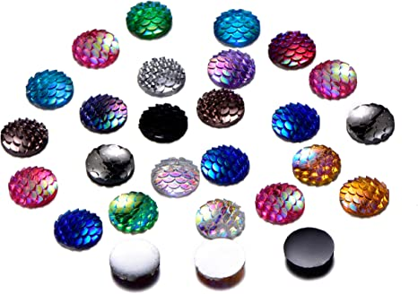 12mm FLOWER ROUND MIXED STYLES RESIN CABOCHON CHOOSE AMOUNT 5 OR 10
