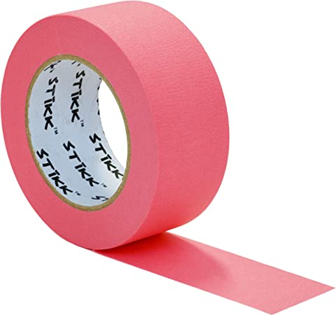 """Pink Masking Tape 1//2/"""" x 60yd ~ Hi Vis Marking"""