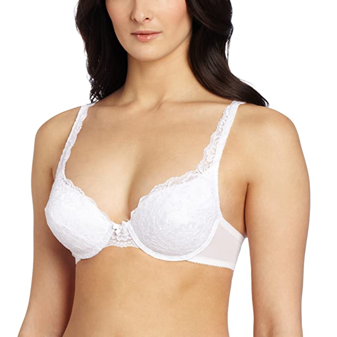 ffc6eed1b1 Vassarette Women s Lace Padded Push Up Bra 75320  Amazon.in  Clothing    Accessories
