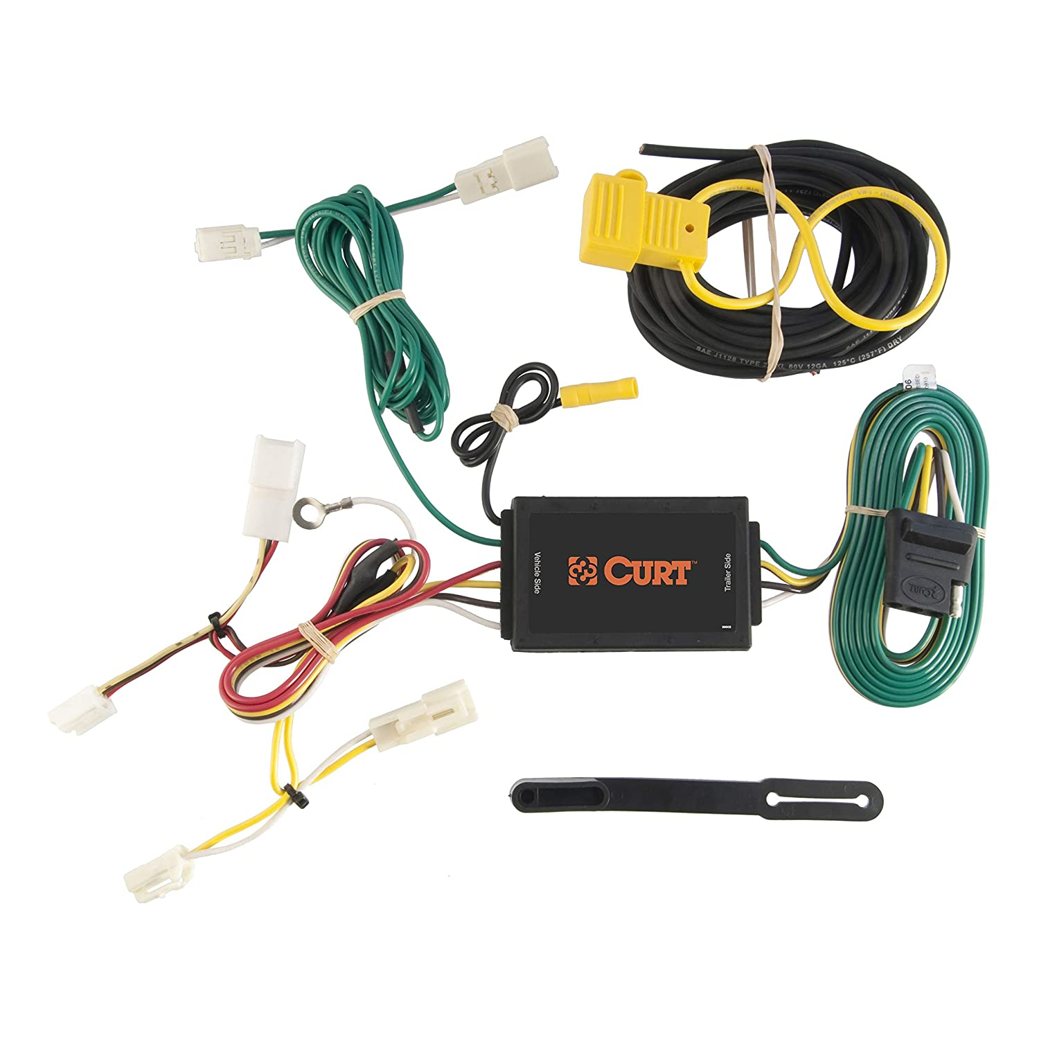 curt 56106 vehicle side custom 4 pin trailer wiring harness for select toyota sienna Vehicle Specific Trailer Wiring Harness