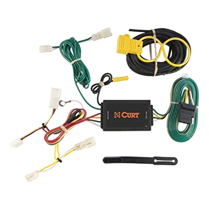 amazon com: curt 56106 vehicle-side custom 4-pin trailer wiring harness for  select toyota sienna: automotive
