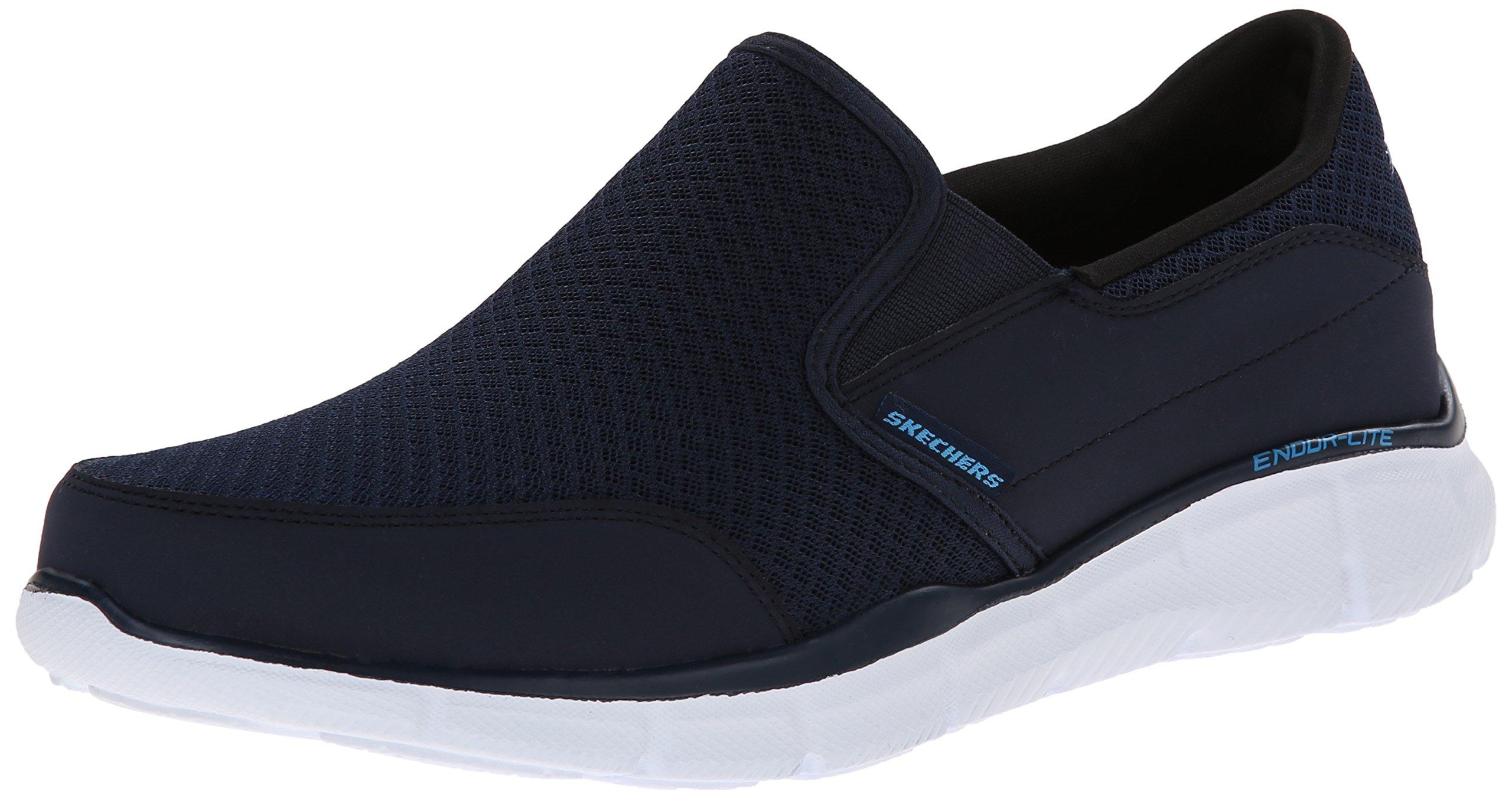 Skechers Men's Equalizer Persistent Slip-On Sneaker, Navy, 11.5 M US