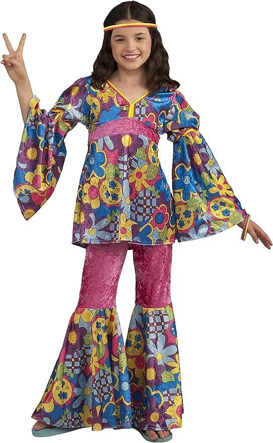 EL CARNAVAL Disfraz Hippy niña Talla de 8 a 10 años: Amazon.es ...