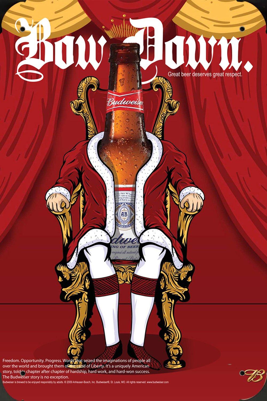 Metal Poster Cartel Hojalata Signo de budweiser Beer ...