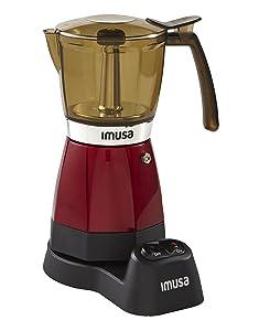 IMUSA USA B120-60008 Electric Espresso/Moka Maker, 3-6 Cups, Red