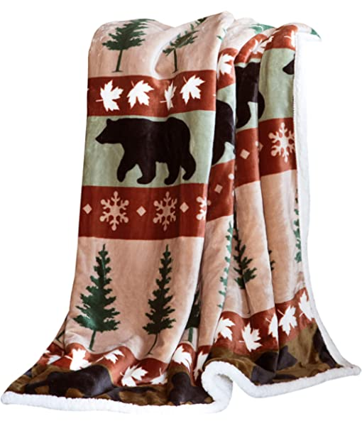 Born to Hunt JQ Licensing Super Soft Flannel Throw Blanket with Sherpa Lining 50x60 Everydayspecial