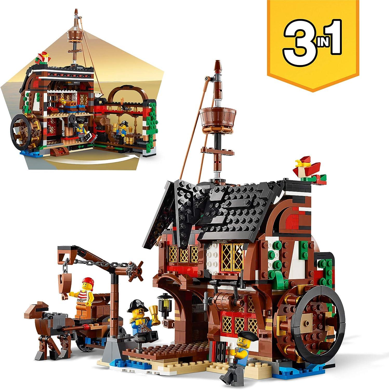 LEGO Creator Vehicles Creator 3en1 Barco Pirata, Set de Juego Posada e Isla Calavera, multicolor (Lego ES 31109): Amazon.es: Juguetes y juegos