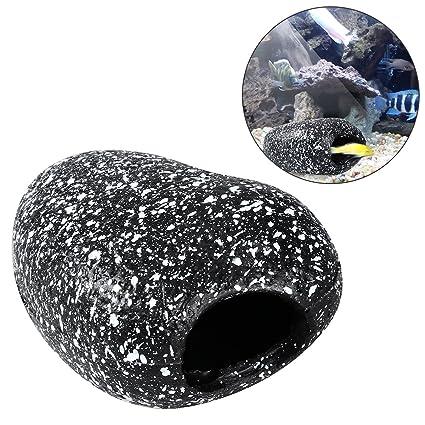 ueetek 1pieza Fish Tank cueva Rock Acuario Decoración Breeding lugar para corto Bream Cichlids