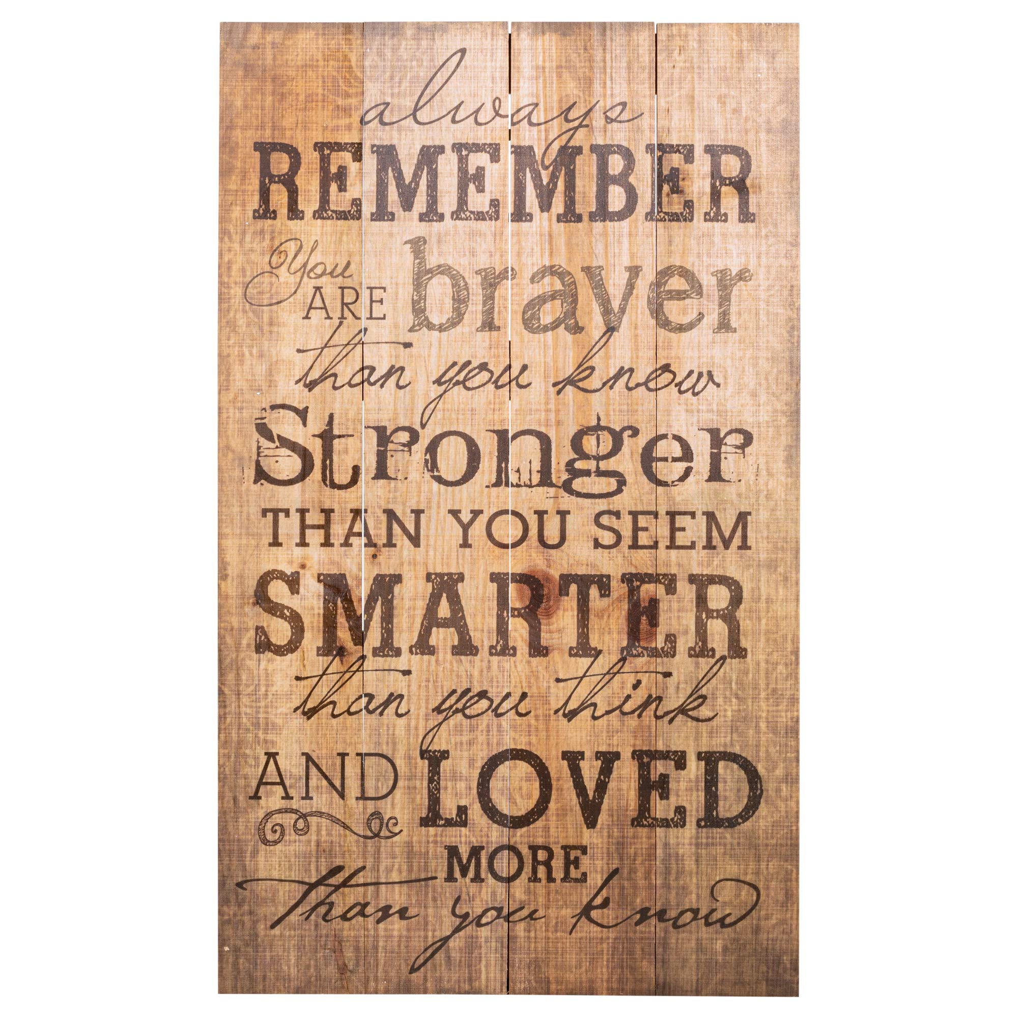 P. Graham Dunn Always Remember You are Stronger Than You Know 24 x 14 Wood Pallet Design Wall Art Sign Plaque by P. Graham Dunn