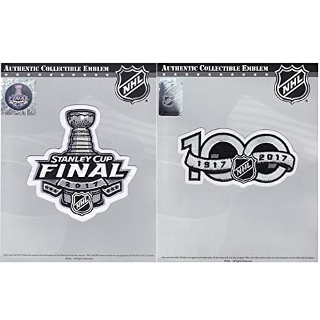 Image Unavailable. Image not available for. Color  2017 Stanley Cup Final   NHL  Hockey 100th Centennial Season Jersey Patch Combo a7bbe6a4c