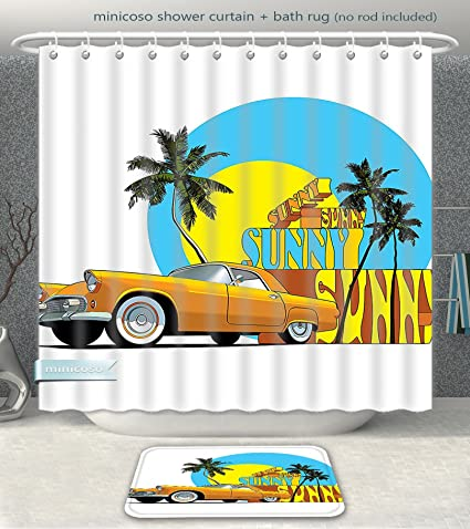 Minicoso Bathroom 2 Piece Suit 1950s Decor Vintage Classic Car In Magic City Miami With