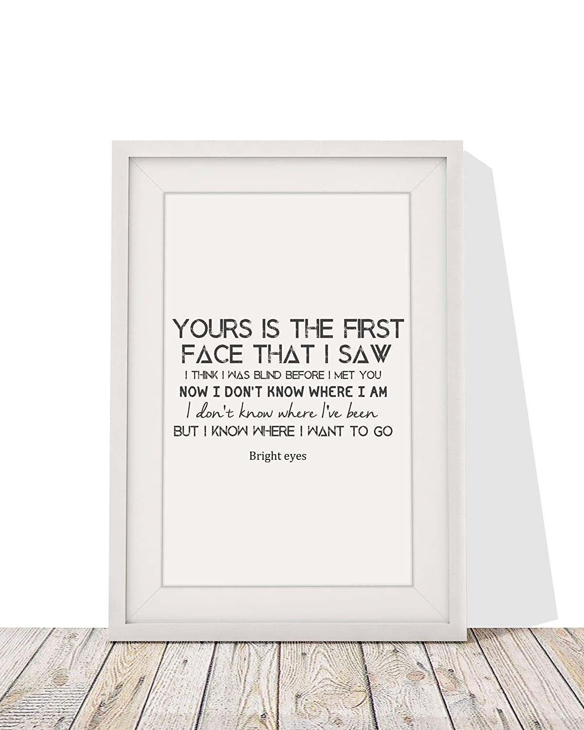 Amazon Bright Eyes First Day Of My Life Song Lyrics Framed A4 Print And 12 X 10 Glazed Frame With Mount Gift Valentines Christmas Anniversary