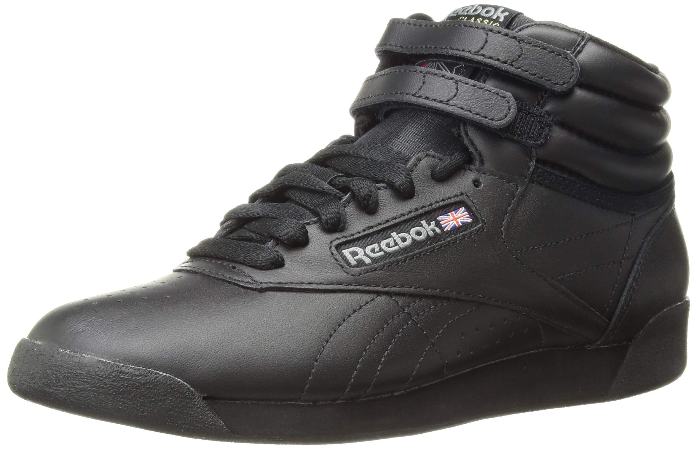 Reebok Women's Freestyle Hi Walking Shoe, Black, 7 M US