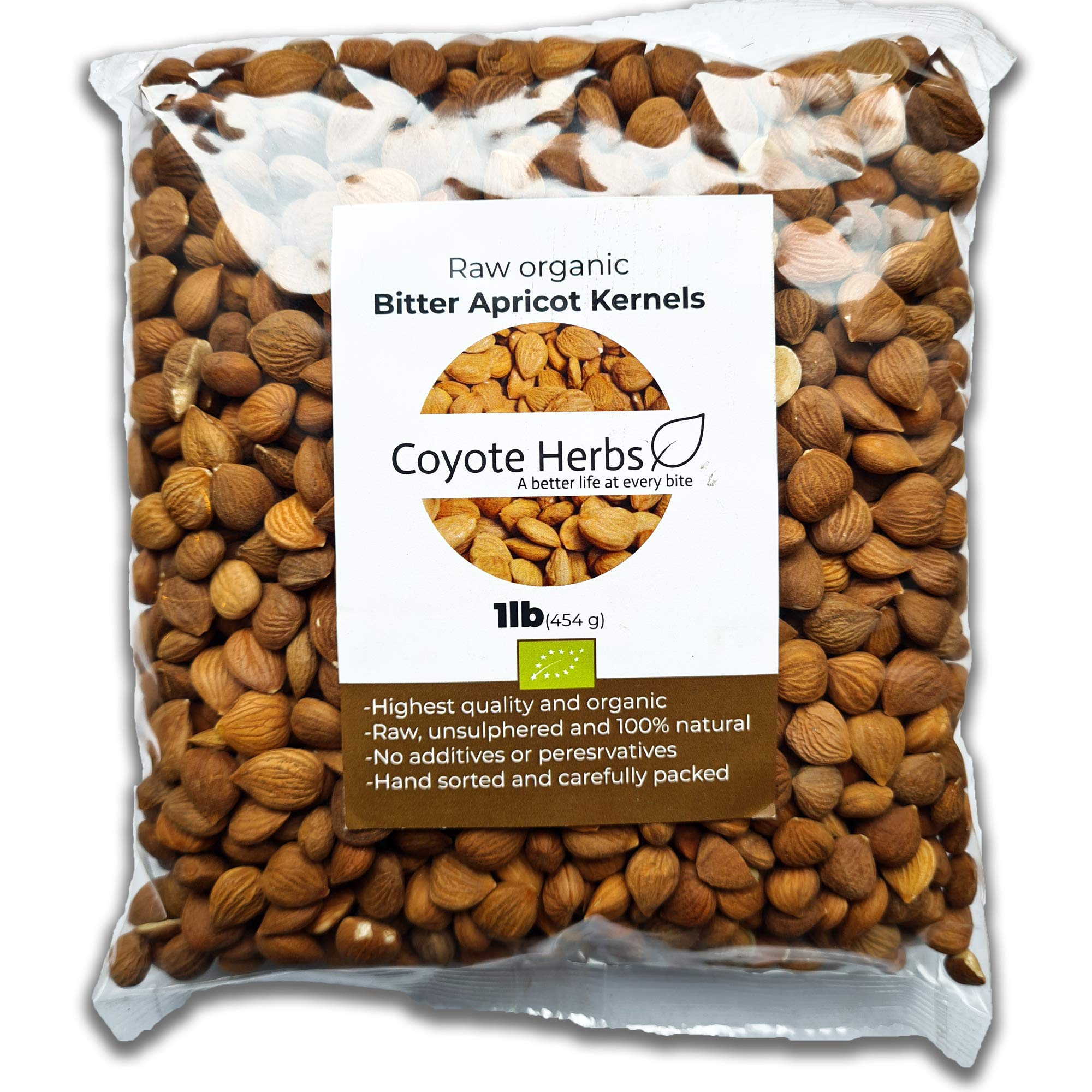 Apricot kernels/ natural/ raw/ bitter apricot kernel seeds/Vitamin b17/Certified/ 1 POUND (16 OZ)