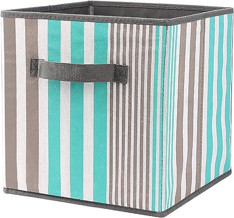 SbuyCoo Caja de Almacenaje, Set de 1 Cajas de juguetes, Caja de Tela para Almacenaje,27 x 27 x 28 cm: Amazon.es: Hogar
