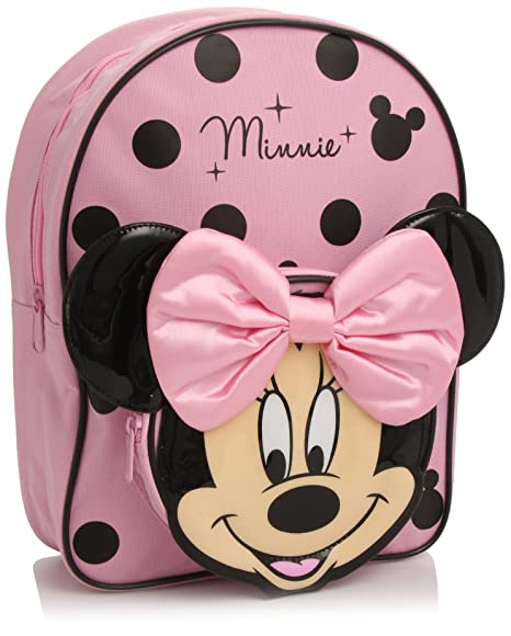7d39d2ef41 Disney Minnie Mouse Zaino, Colore Rosa/Nero: Amazon.it: Valigeria