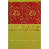 Sources of Japanese Tradition: From Earliest Times to 1600