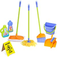 Kidzlane Kids Cleaning Set for Toddlers Up to Age 4. Includes 6 Cleaning Toys + Housekeeping Accessories. Hours of Fun & Pretend Play!