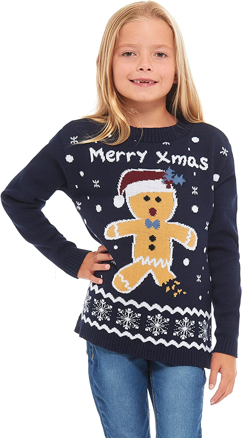 Elf New Camp Ltd Girls Kids Boys Children Unisex Christmas Xmas Knitted Novelty Football Jumper Sweater Christmas Xmas 2019 Exclusively to for Ages 2-14 Years Retro