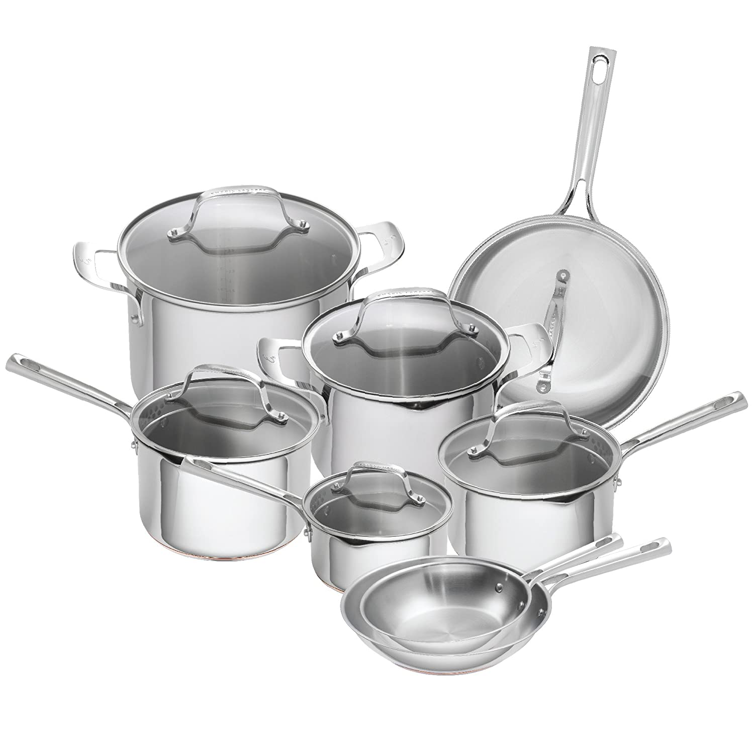 Amazon.com: Emeril Lagasse 14 Piece Stainless Steel Copper Core ...