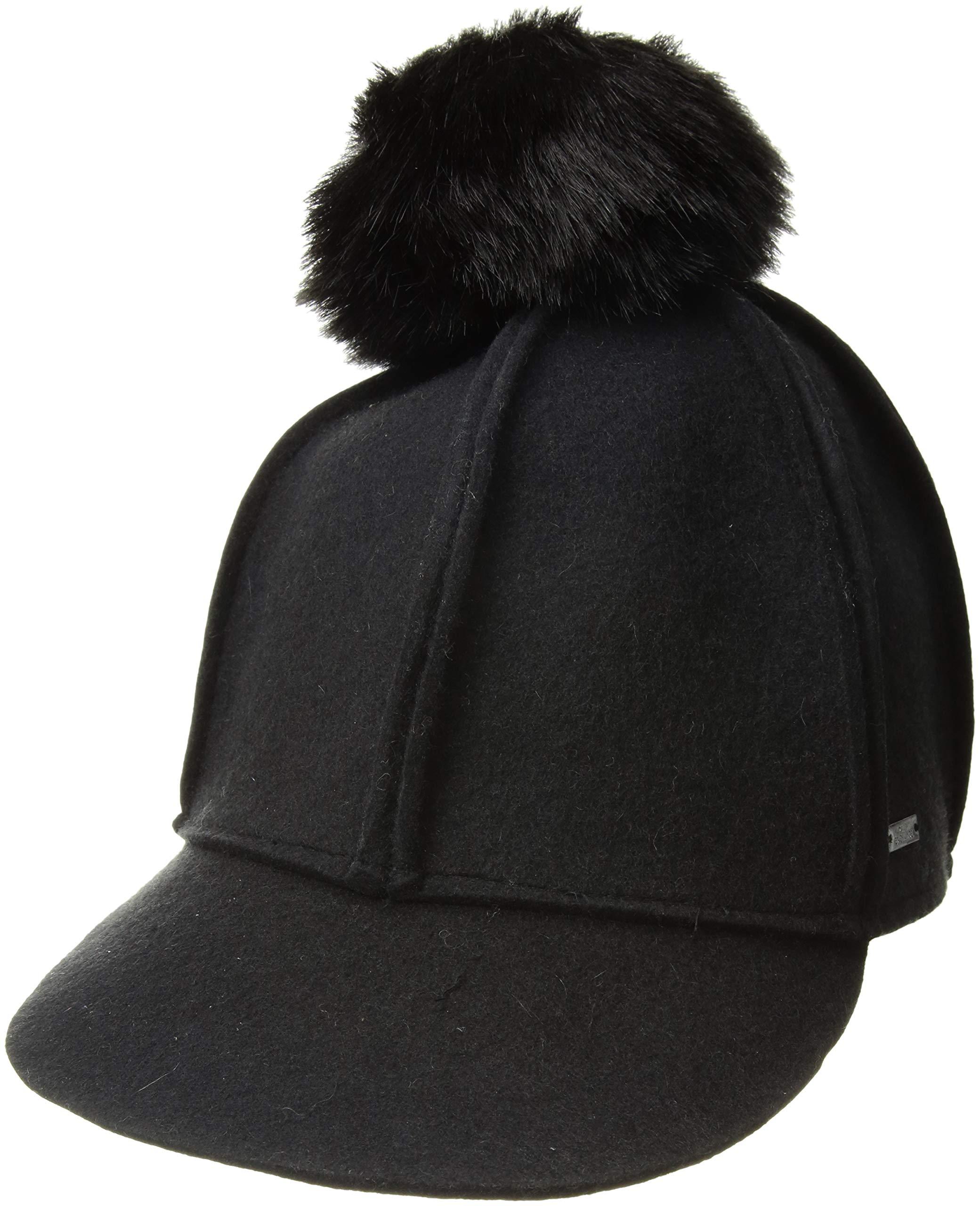 A|X Armani Exchange Women's Felt basbeball Cap, Black, s/m by A|X Armani Exchange