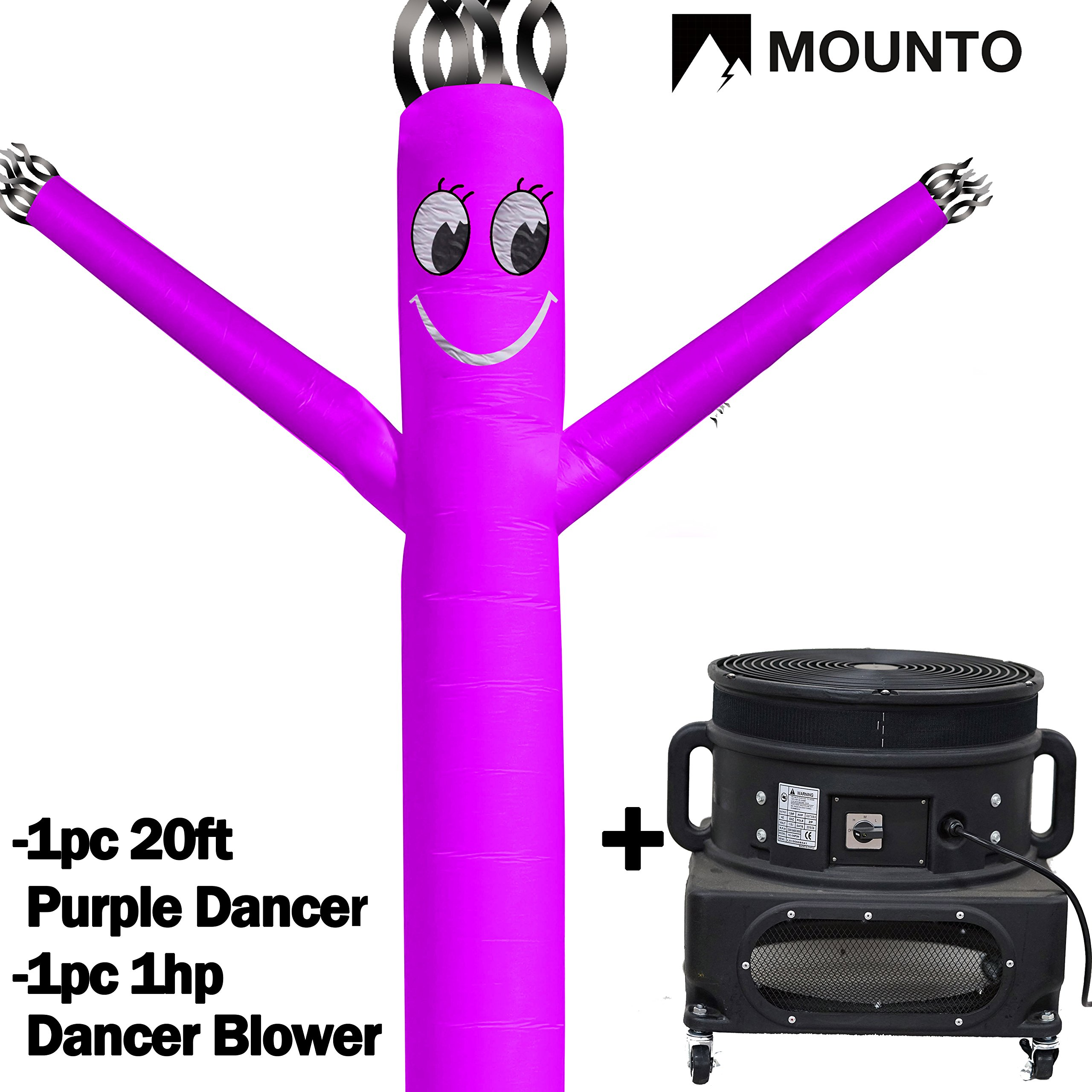 MOUNTO 20ft Air Puppet Dancer with 1HP blower Complete Set, 20-Feet 18Inch (PURPLE)