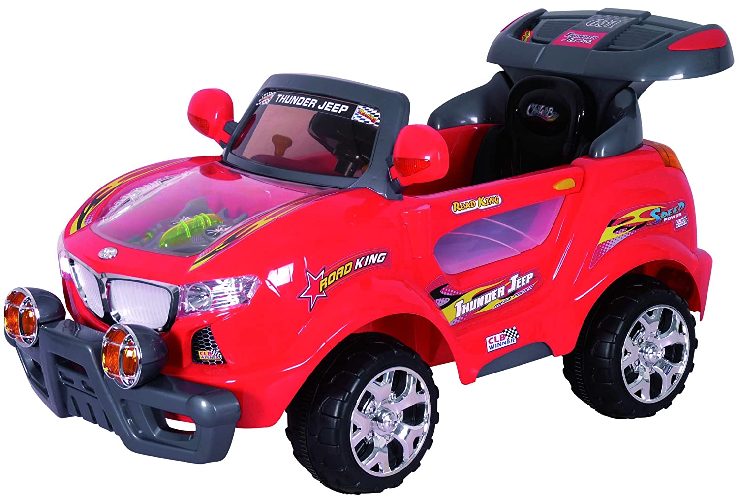 Amazoncom Best Ride On Cars R V Kids Thunder SUV Red - Ride on cars