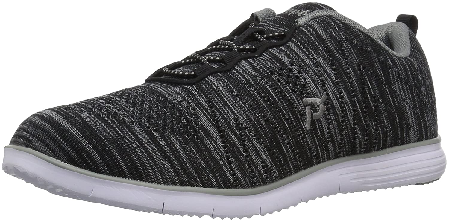 Propét Women's TravelFit Walking Shoe B01IOE1CNW 9.5 4E US|Black/Grey