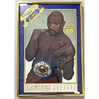 $376 » Marvin Hagler Signed Photo 10x15 Autograph Ring Magazine Marvelous Champ FOY - Autographed Boxing Magazines