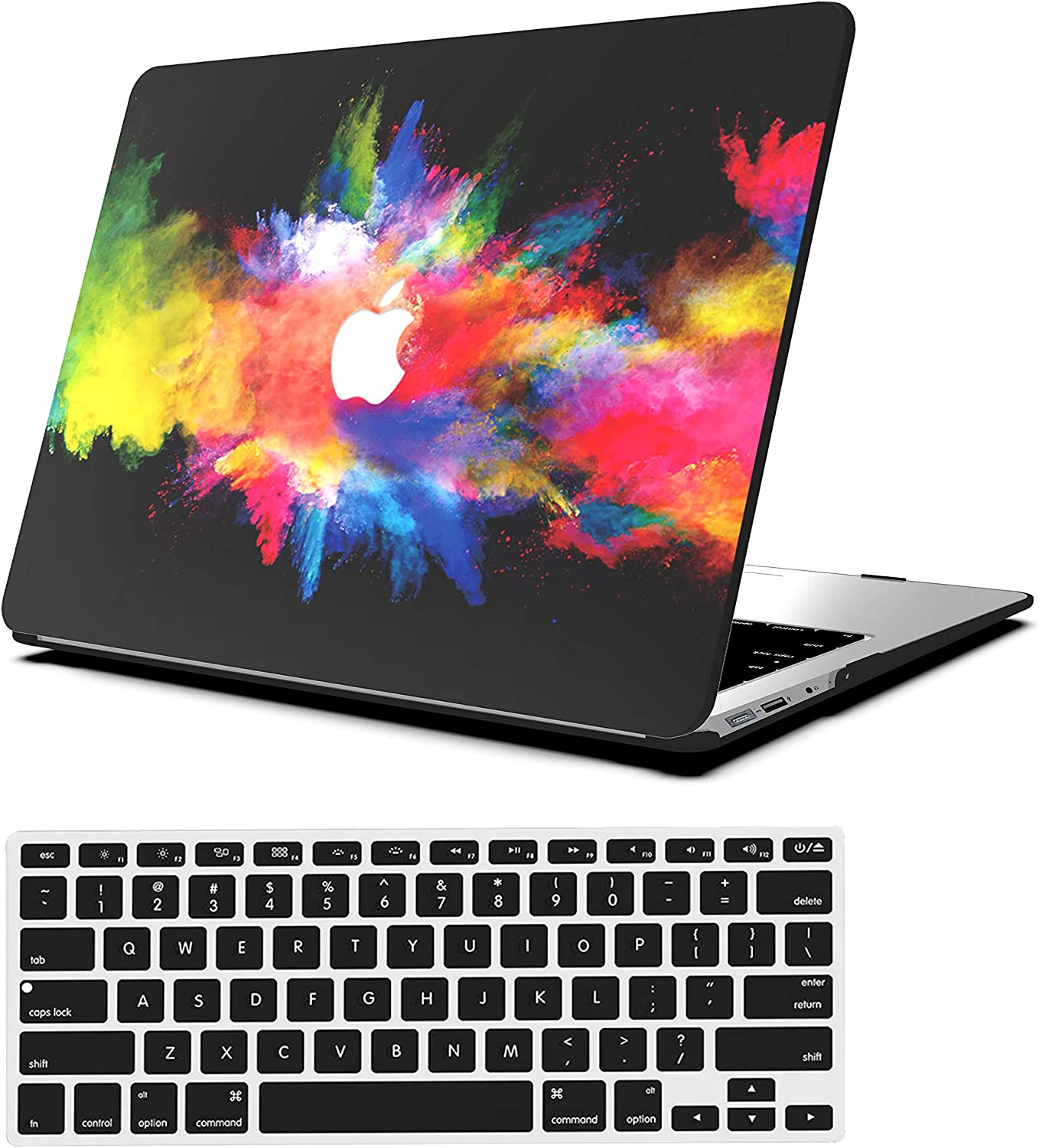 AOGGY MacBook air 11 inch case Beautiful Space Model PC Portable Smooth Plastic Rubber Coating Hard Shell Cover +Keyboard Cover - for MacBook Air 11