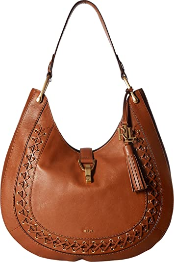 Amazon.com  LAUREN Ralph Lauren Women s Ashfield Abree Hobo Field Brown  Handbag  Shoes c4addc8931