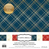 Carta Bella Paper Company Seasonal Plaid Gold Foil Collection Kit