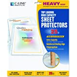 C-Line High-Capacity Sheet Protectors, Heavy Gauge, Letter, Clear, 25 per Box (62020)