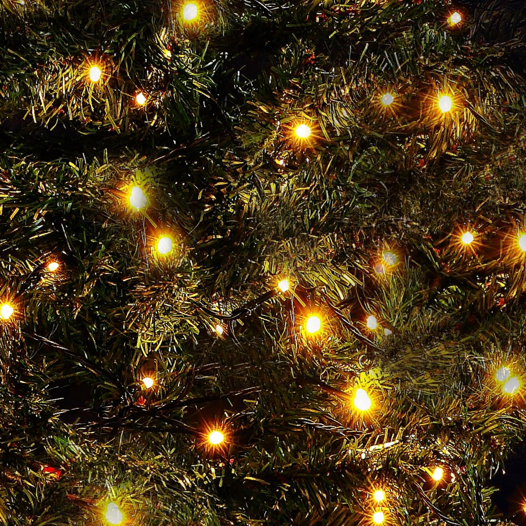 Backyard Twinkle Lights: Solar Led String Lights Outdoor Twinkle Lights 200 Count