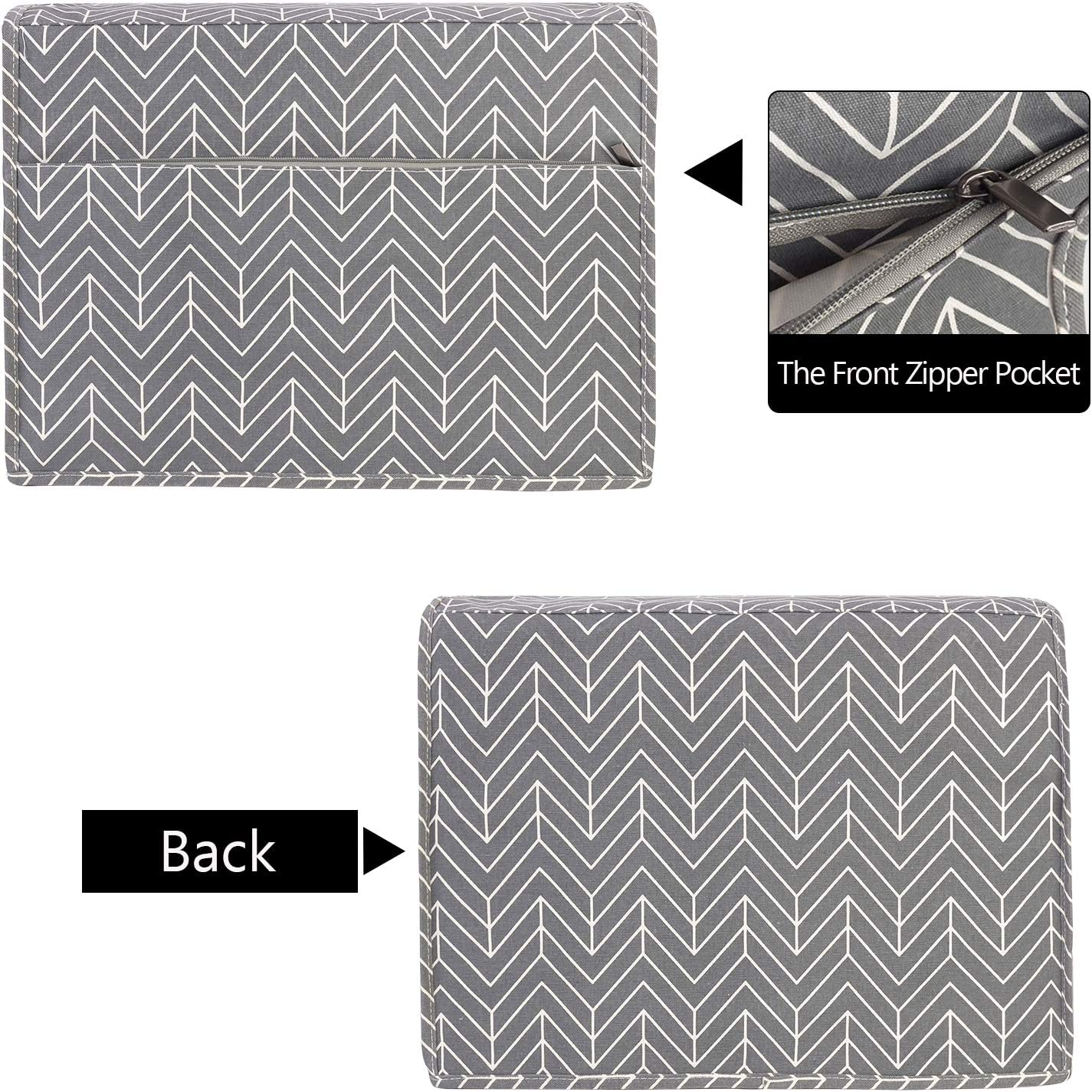 Dust Cover with Pockets for Most Standard Sewing Machines and Accessories Yarwo Sewing Machine Cover Tree